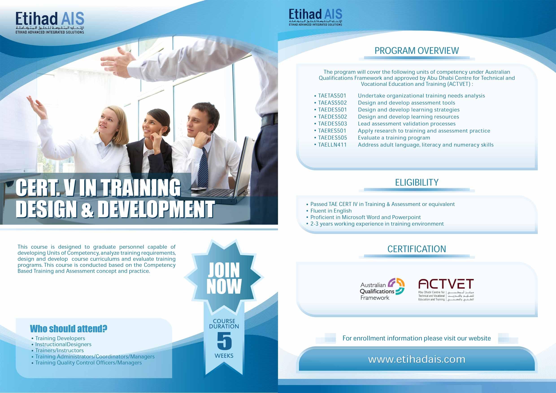 cert5 in training Design & Development